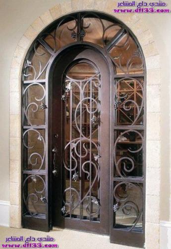 اجمل ديكورات ابواب المنازل الراقية 2018 ، The most beautiful decorations houses doors 2018 1511450319652.jpg