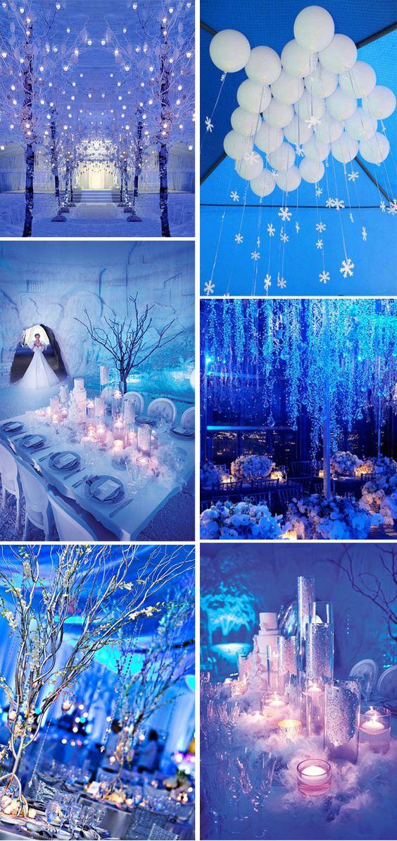ديكورات للاعراس الشتوية