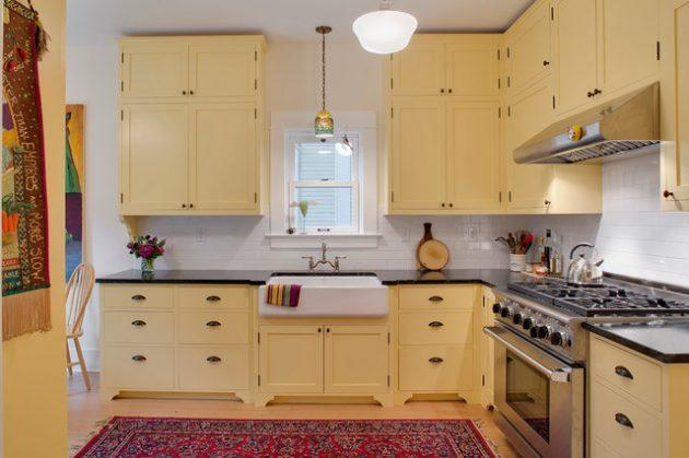 ديكور مطبخ باللون الاصفر