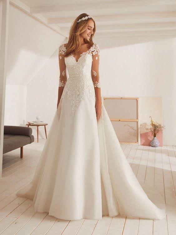 موديلات فساتين جديده وانيقة لعروس